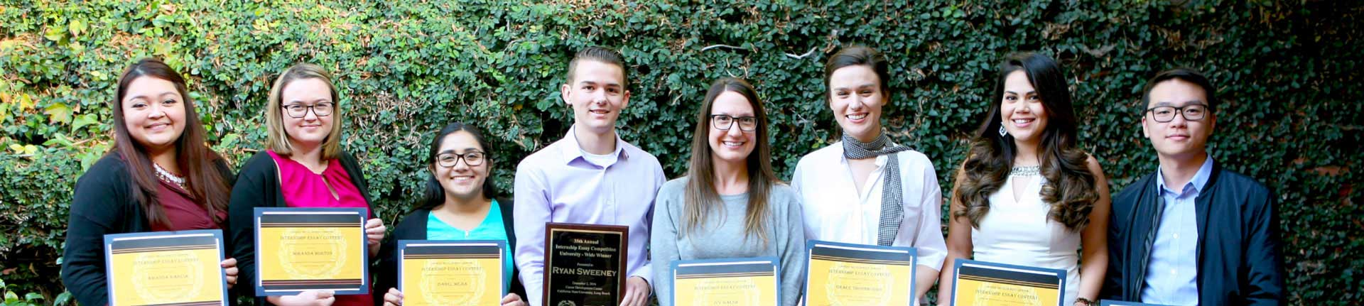 8 Student winners of the CDC Internship Essay Contest Scholarship